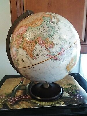 "Vintage Replogle World Classic Series 12"" Globe w/Wooden Base"