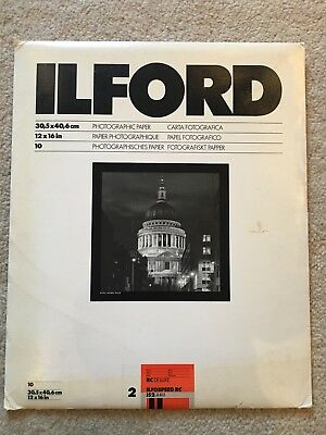 ILFORD ILFOSPEED 2 De Luxe Paper unopened pack of 10 Sheets 12x16 inches pearl