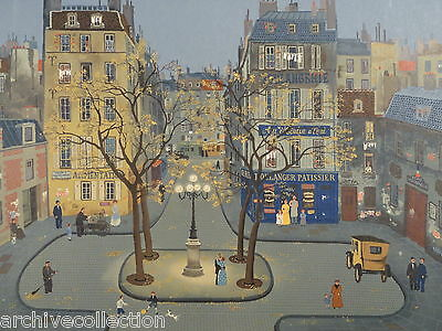 "Michel Delacroix "" La Place de Furstenberg"" Signed and numbered by artist"