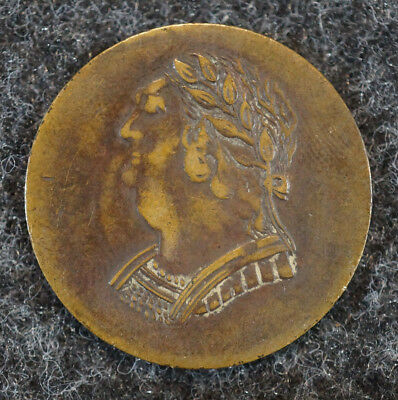 1820 Lower Canada Canadian Colonial 1/2 Penny Bust & Harp Token