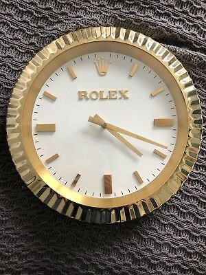AUTHENTIC, ORIGINAL VINTAGE ROLEX DEALER /JEWELER WALL CLOCK. SUPER RARE! Works!