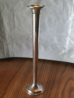 "ANTIQUE Wallace 6528 Sterling Silver Weighted Fluted Bud Vase  8"" TALL No Mono"