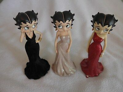 Lot of 3 Westland Betty Boop Collector Figurines from 2001 Item 6879, 6880, 6881