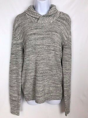 H&M Sweater Gray 100% Cotton Women's 14Y Cowl Neck Sweater