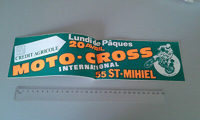 Autocollant/sticker/Aufkleber Moto cross INTERNATIONAL /SICA BAR LE DUC