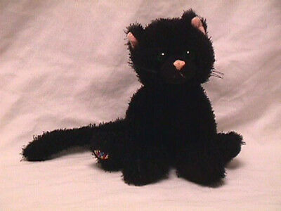Ganz Webkinz Black Cat Plush Stuffed Animal Toy No Code Halloween