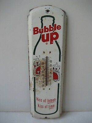 Vintage Bubble Up Soda Thermometer