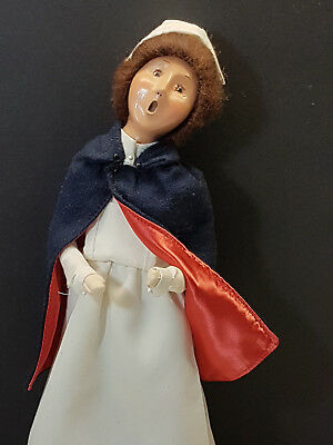 Byers Choice The Carolers Vintage NURSE with Navy Blue Overcoat and Cap 1998