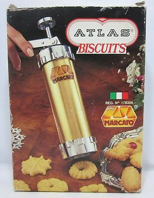Vintage Marcato Atlas Biscuits Maker Cookie Press 178306 Made In Italy