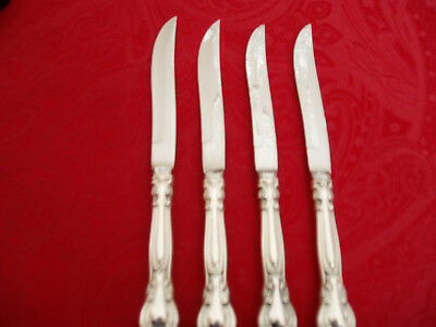 4 Chantilly Sterling Handle Steak Knive's  By Gorham