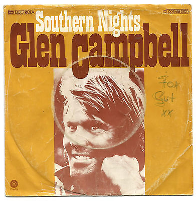 "Glen Campbell   Southern Nights  /    Country-Pop      7"" Single Mit Cover"