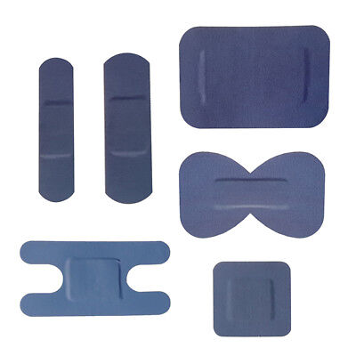 100x Blue Plasters Assorted Catering Visible Adhesive Bandage Hospitality