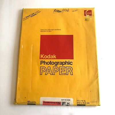 VTG 10 SHEETS Kodak Kodabrome II RC Photographic Film Paper F H 11x14 SEALED