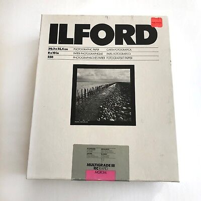 Ilford Multigrade III RC RAPID 8x10 Photographic Paper Film 250 Sheets SEALED