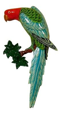 Tropical Macaw Parrot Tiki Bar Wall Bath Kids Decor Light Blue