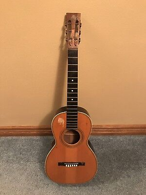 C. BRUNO NEW YORK Acoustic Parlor Guitar * Antique VTG * RARE