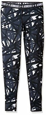 Under Armour HG Armour Printed Legging Fille, Blanc, Youth/X-Large