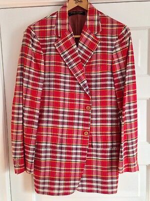 Vintage NOS Brooks Brothers 3/2 roll madras jacket Ivy Style Trad Preppy 40L USA