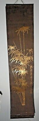 Vintage Asian Hand Painted Art Signed on Tin Very Old Unique Rare