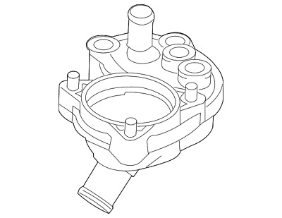 Genuine Ford Thermostat Housing Gasket F1vy 8255 A