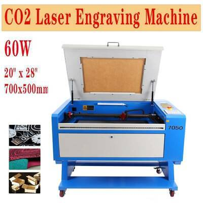 Used 60W CO2 Laser Engraver Engraving Cutter Machine 28x20 Electric Lifting