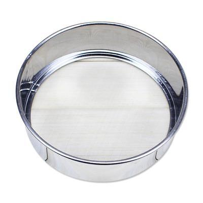Stainless Steel Kitchen Round Mesh Sugar Flour Sifter Strainer Baking Tool