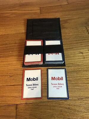 Mobile-Oil Torrance refinery 1967 Logo-Playing-Cards-2-Decks complete with case