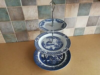 3 Tier Compilation Cake Stand (Yuan & Willow Patterns)
