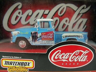 Matchbox Collectibles Coca Cola 1956 Chevy 3100 Pickup 1:43 NEW # 96556