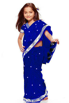 Saree ReadyMade Costume Girls Children Indian Design Model Fancy Dress KSA307