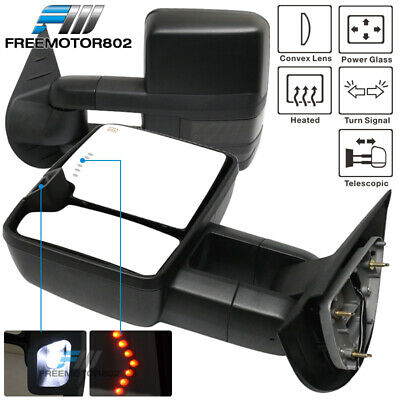 Fit 07-14 Silverado Sierra Towing Mirrors Power Heated Signal Clearance Light