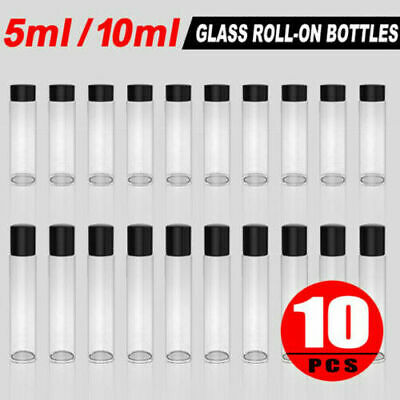 5/10ml Clear Roll on Bottles with Stainless Steel Roller Ball Essential Oil