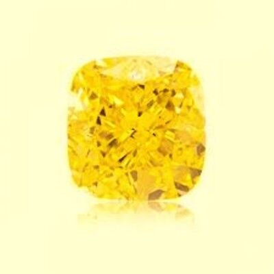 SAPHIR CUSHION JAUNE CANARI 9x9 mm. VRAC 4.80 CT. DURETÉ 9 DIAMANT-BRILLANT