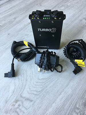 Quantum Turbo 3 Battery & charger plus two CKE2 leads (Nikon)