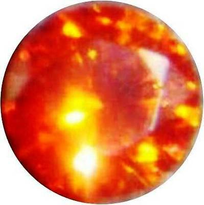 12 mm. SAPHIR PADPARADSCHA ORANGE ROND VRAC DURETÉ 9 DIAMANT-BRILLANT RENFORCÉ