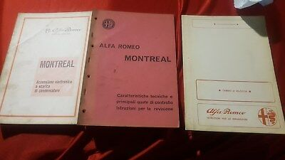 Alfa Romeo Montreal - kit Manuale e documentazioni ORIGINALi