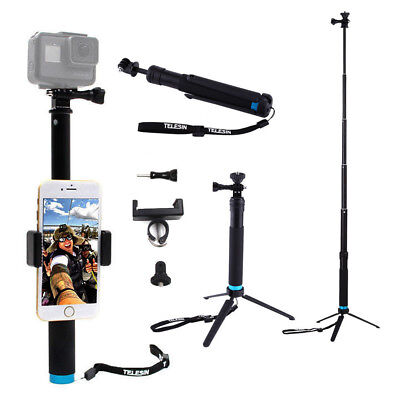 Waterproof Handheld Monopod Tripod Gopro Selfie Stick Pole for Gopro Hero 4 5 6