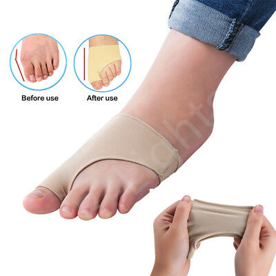 2 Pair S/L Big Toe Bunion Protector Support Bunions Blisters Gout Foot Pain UK