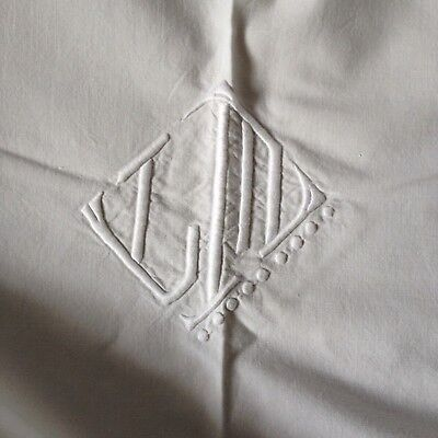 HUGE HOMESPUN/HAND LOOMED 1930's FRENCH VINTAGE LINEN SHEET. EX. CONDITION.