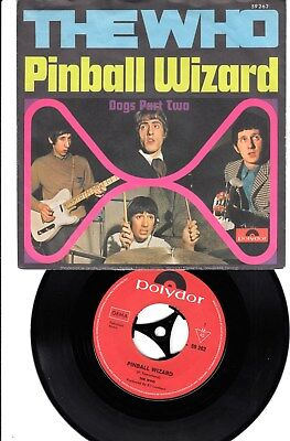 The Who Pinball Wizard / Dogs Part Two  D 1969 m/m- Polydor 59 262
