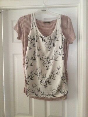 Maternity bundle - 2 x tops size 12/M very good condition