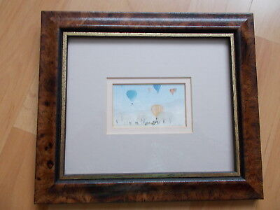 Ken Lochhead Miniature Watercolour Print of Hot Air Balloons over Holyrood