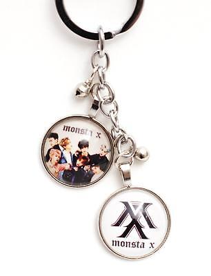 K-pop Monsta X Metal Pendant Keyring Key Chain - White Logo