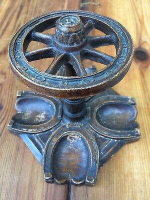 Awesome Vintage Syroco  Western Style 4 pipe holder Horse Shoe Wagon Wheel