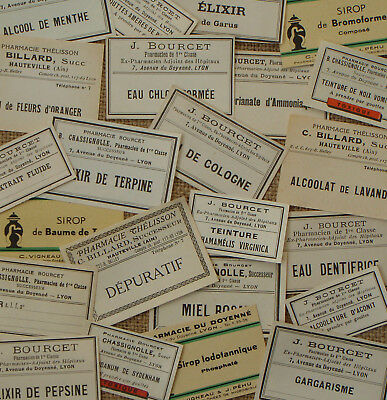 23 Vintage Drug Store Labels Pharmacy Medicine Apothecary French Ephemera