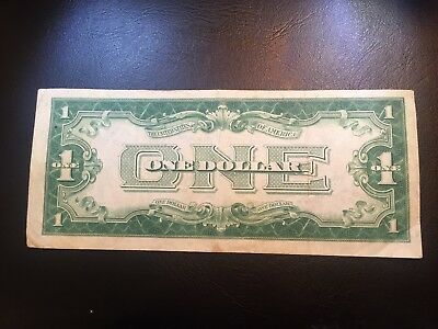 "1928 $1 silver certificate "" FUNNY BACK""  circulated  banknote"