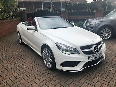 Mercedes E Class 2.1 E220 CDI BlueTEC AMG Line Cabriolet RED LEATHER/AIR SCARF