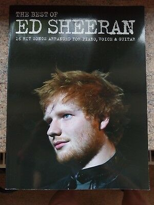 the Best of ed sheeran 16 Hit Songs arranged for piano voice guitar songbook