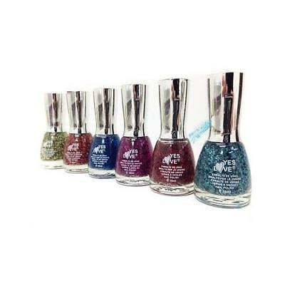 Lot De 6 Vernis A ongles Effet Plumes - YES LOVE - 6 x 15 ml - Port 0€ - 483