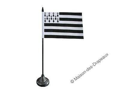 Drapeau de table France Bretagne 10x15cm breton